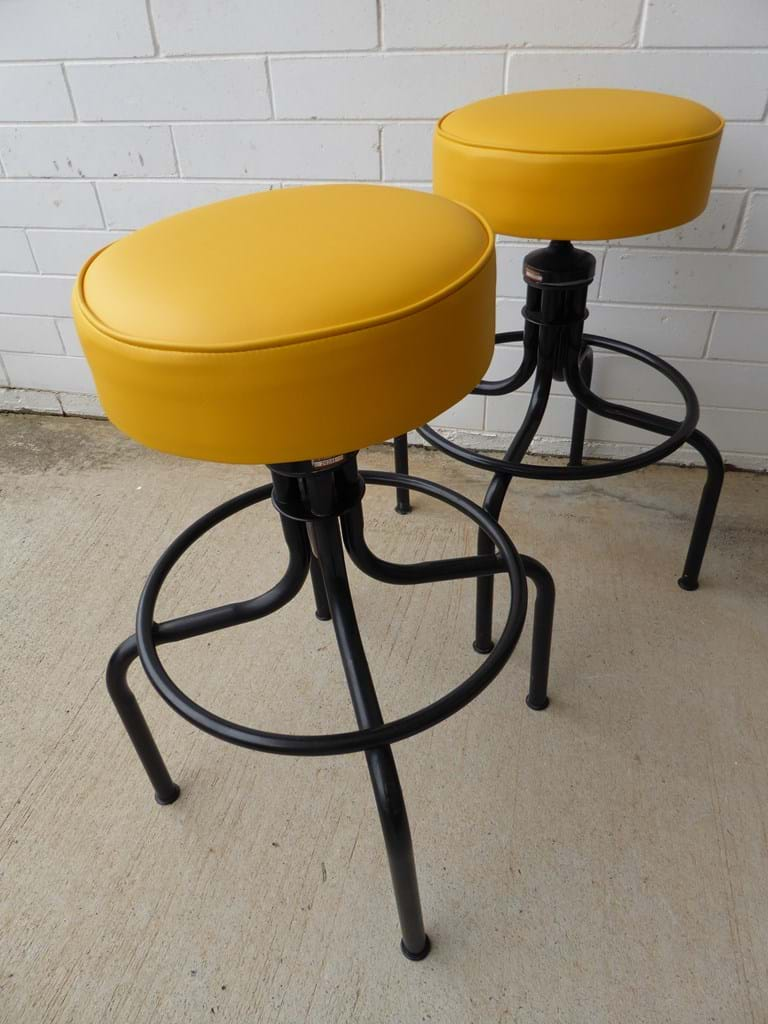 1970s lab stools by Namco