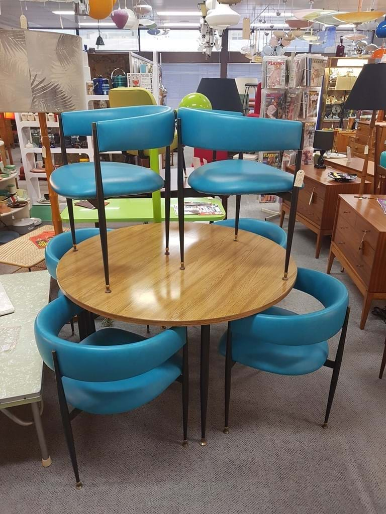 Mid 1960s seven-piece dining suite by Pongrass Bros, Sydney