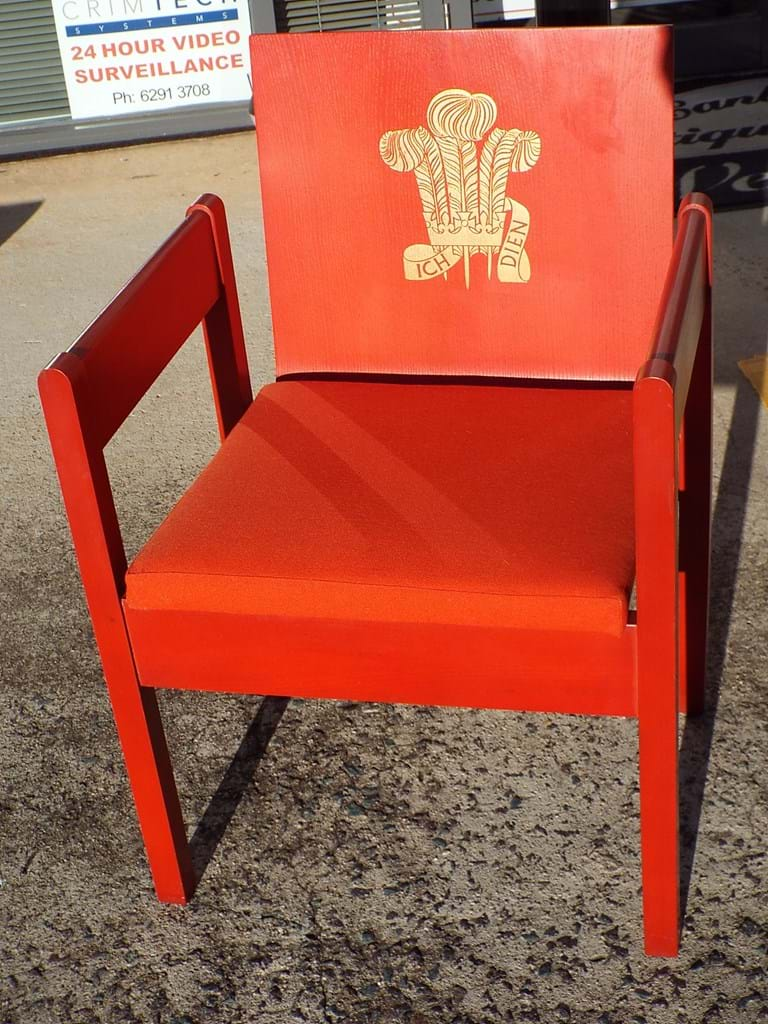 1969 Prince Charles Investiture chair