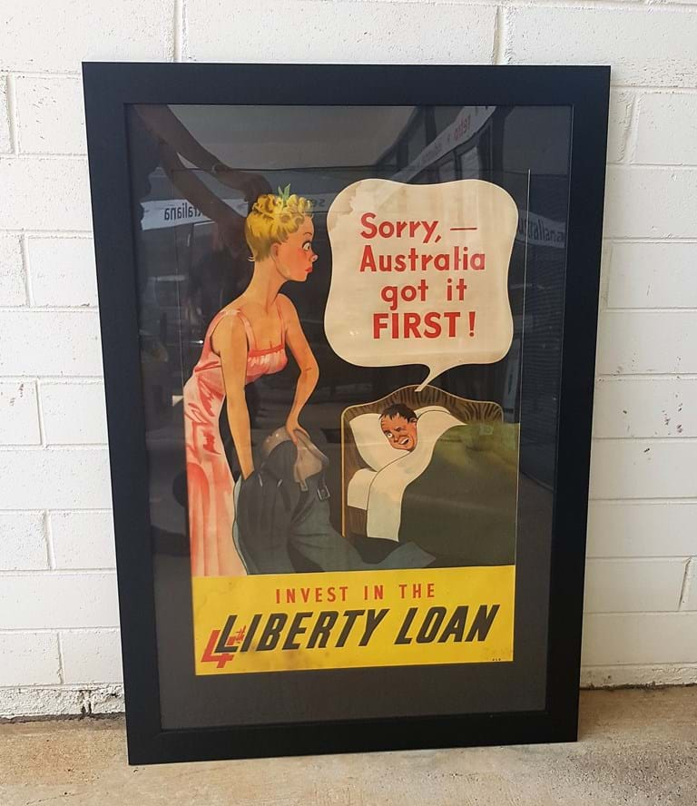 1943 Poster 4th Australian Liberty Loan (war bond)