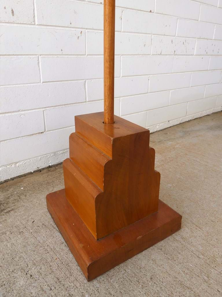 1950s timber indoor flagpole