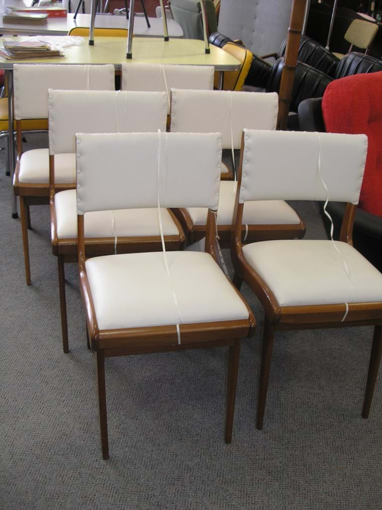Set six 1950s Snelling dining chairs