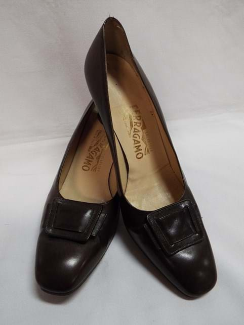 1960s pair leather shoes