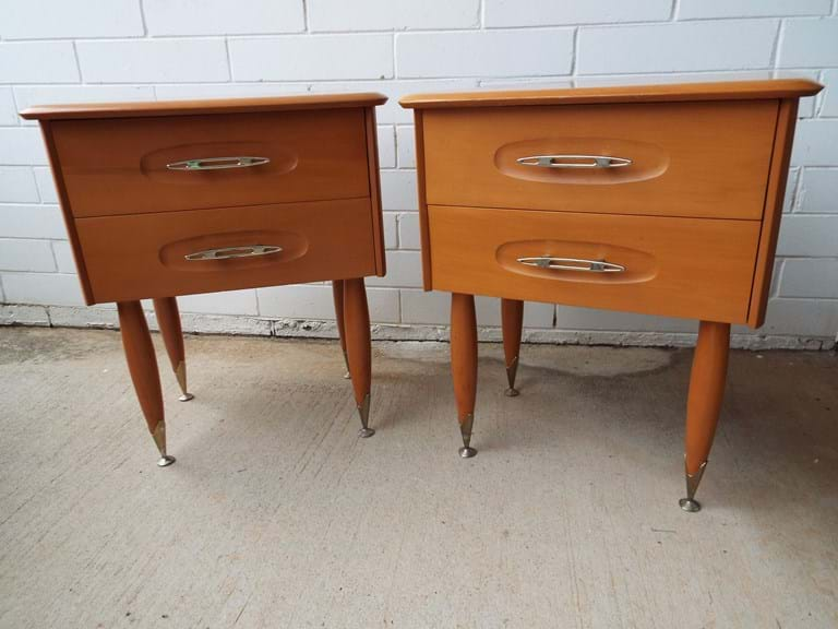 Pair 1960s bedsides by Burgess Furniture