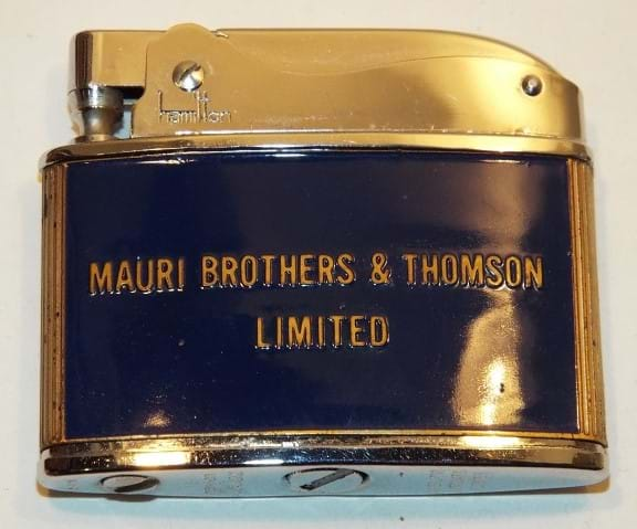 1960s cigarette lighter advertising Mauri Brothers & Thomson, Sydney