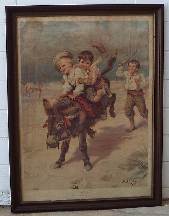 c1900 Fred Morgan original print