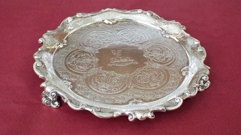 Victorian sterling silver small salver
