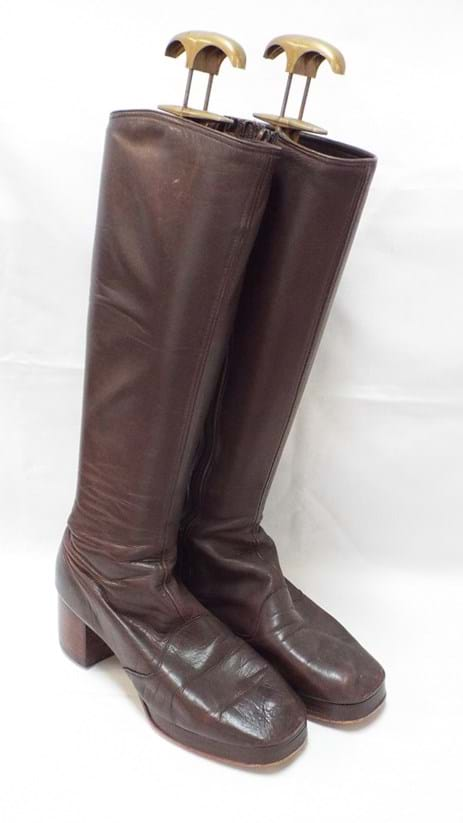 1970s pair brown all leather boots