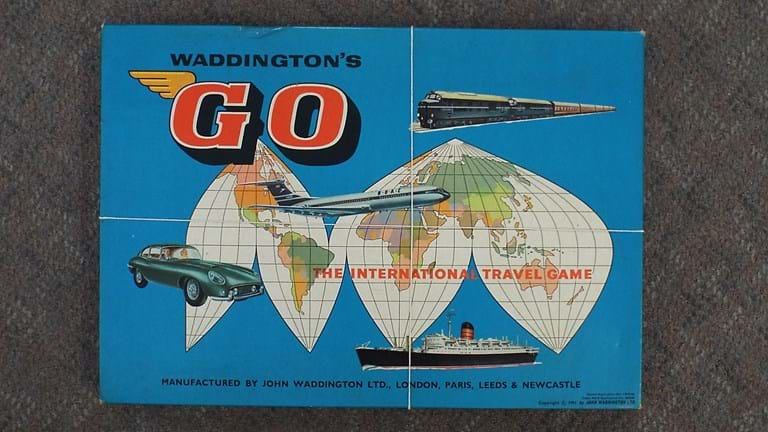 1960s Go travel board game