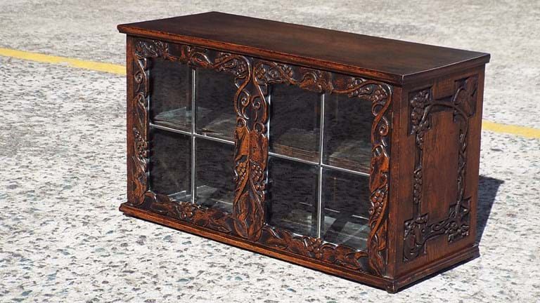 Oak small display case