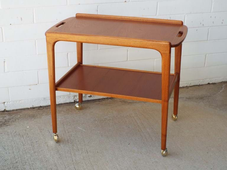 1960s timber serving trolley by Noblett Furniture