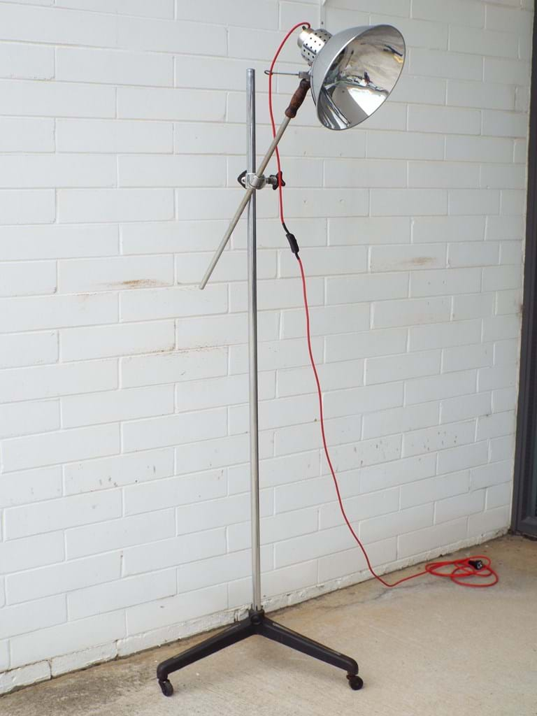 c1950s chrome floor lamp