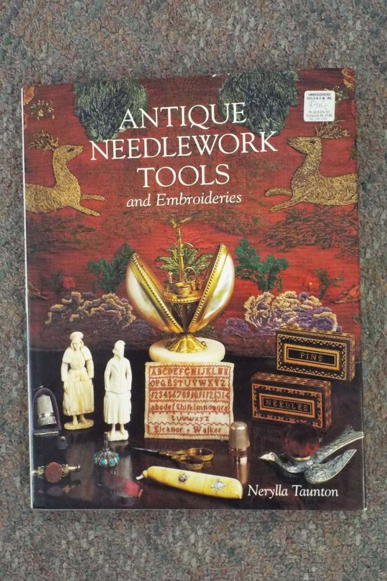 "Book ""Antique Needlework Tools & Embroideries by Nerylla Taunton"