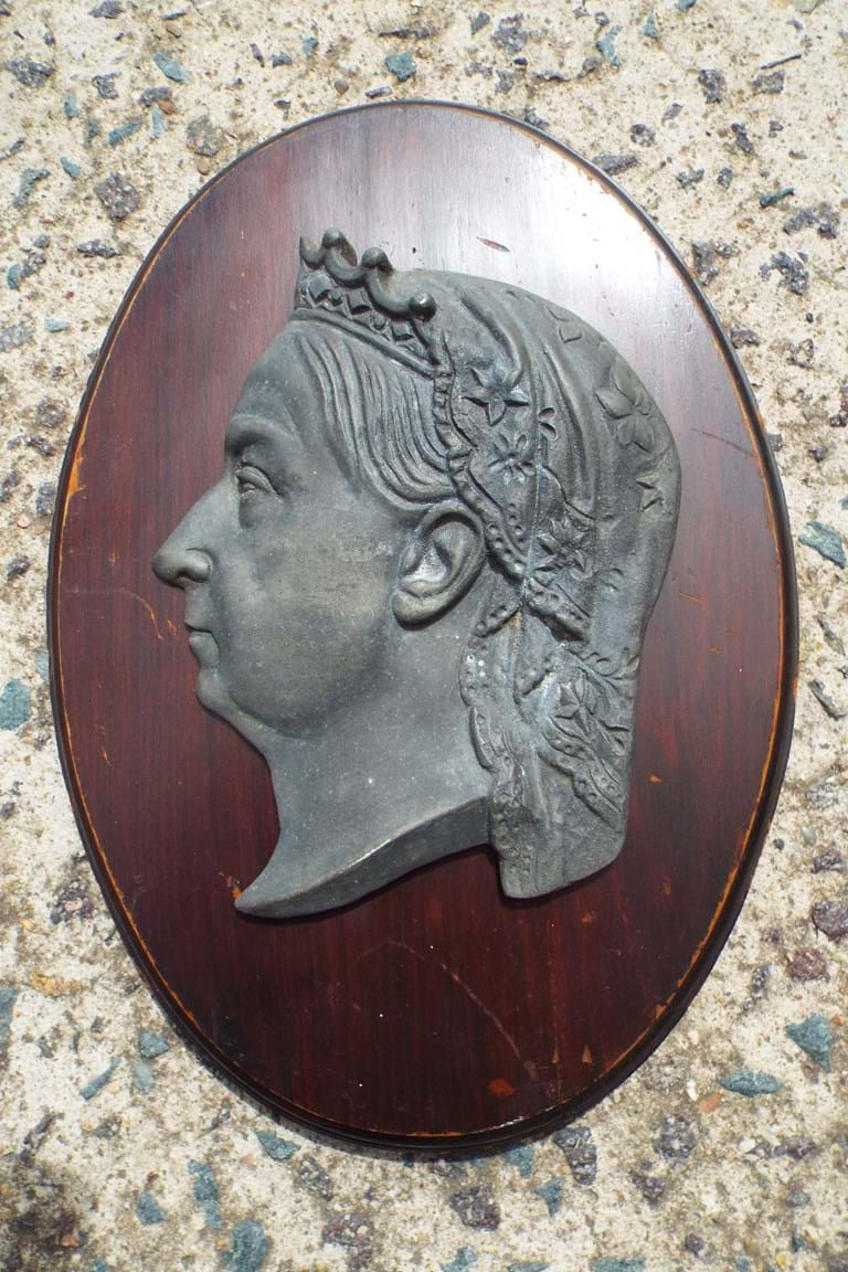 Kenrick cast iron plaque Queen Victoria