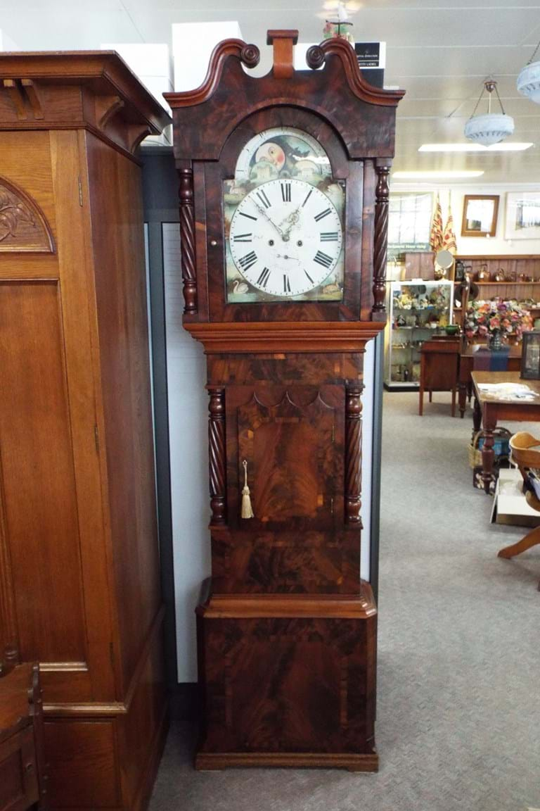 Early 1800s Mahogany Scottish Grandfather Clock