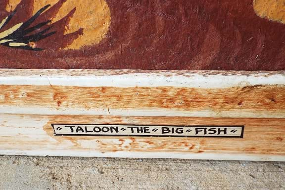 Taloon The Big Fish Aboriginal style artwork by Byron Mansell