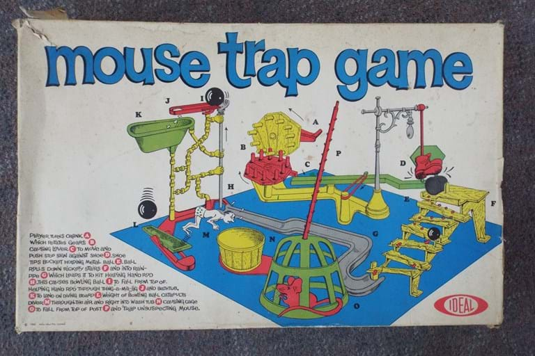 "1960s boxed ""Mouse Trap"" game"