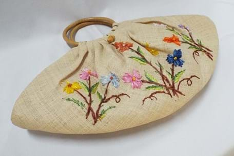 1950s/60s tropical bag and hat
