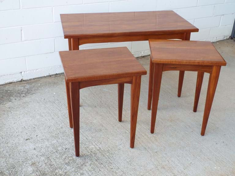 1960s-1970s blackwood nest of tables