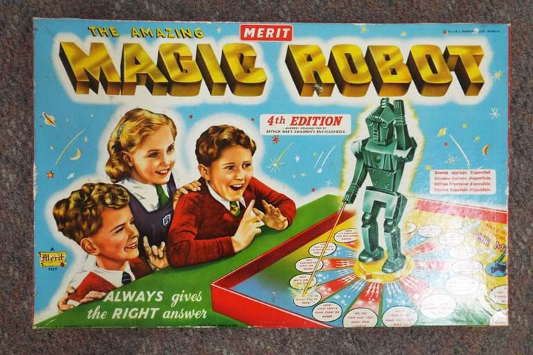 1950s Magic Robot board game