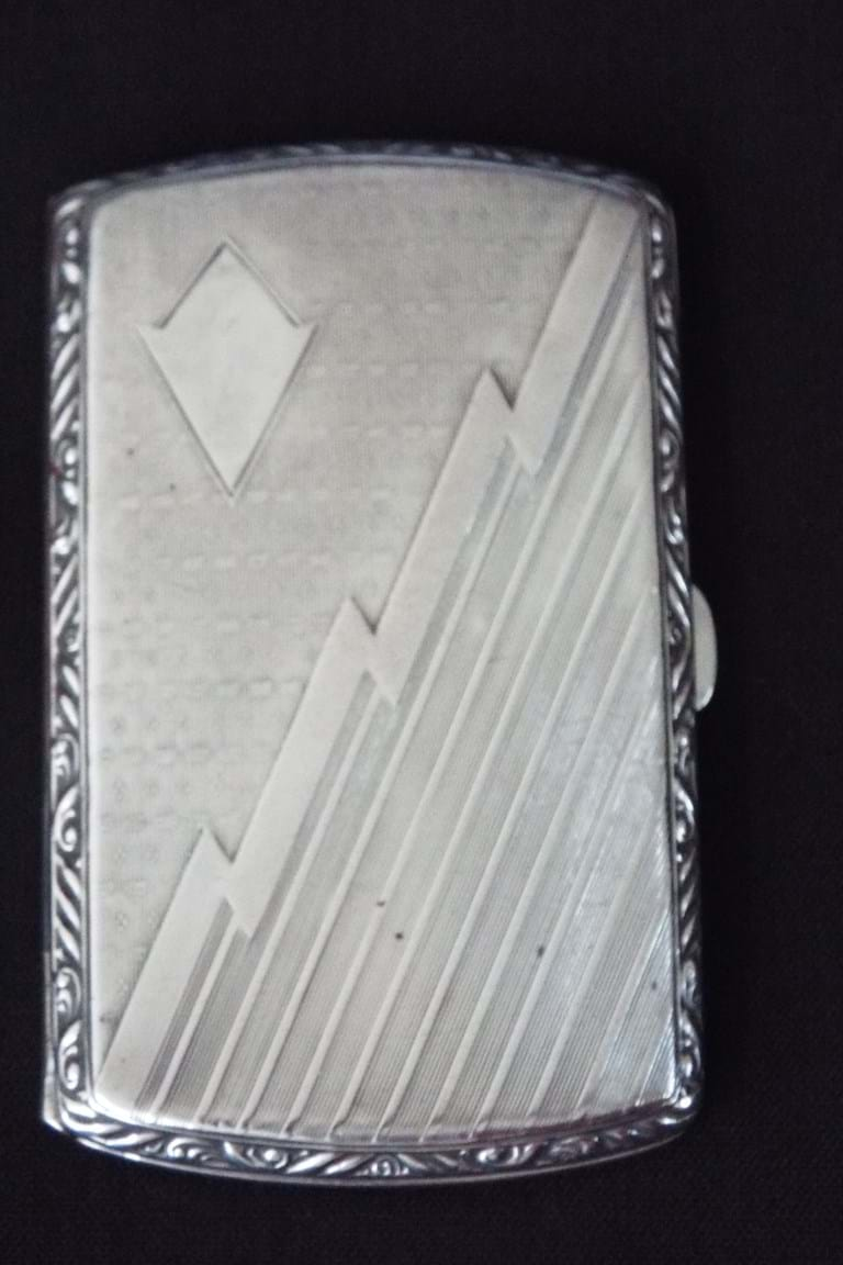 Art deco silver cigarettes case