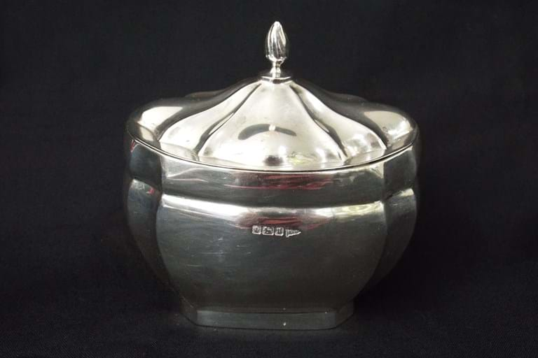Edwardian silver tea caddy