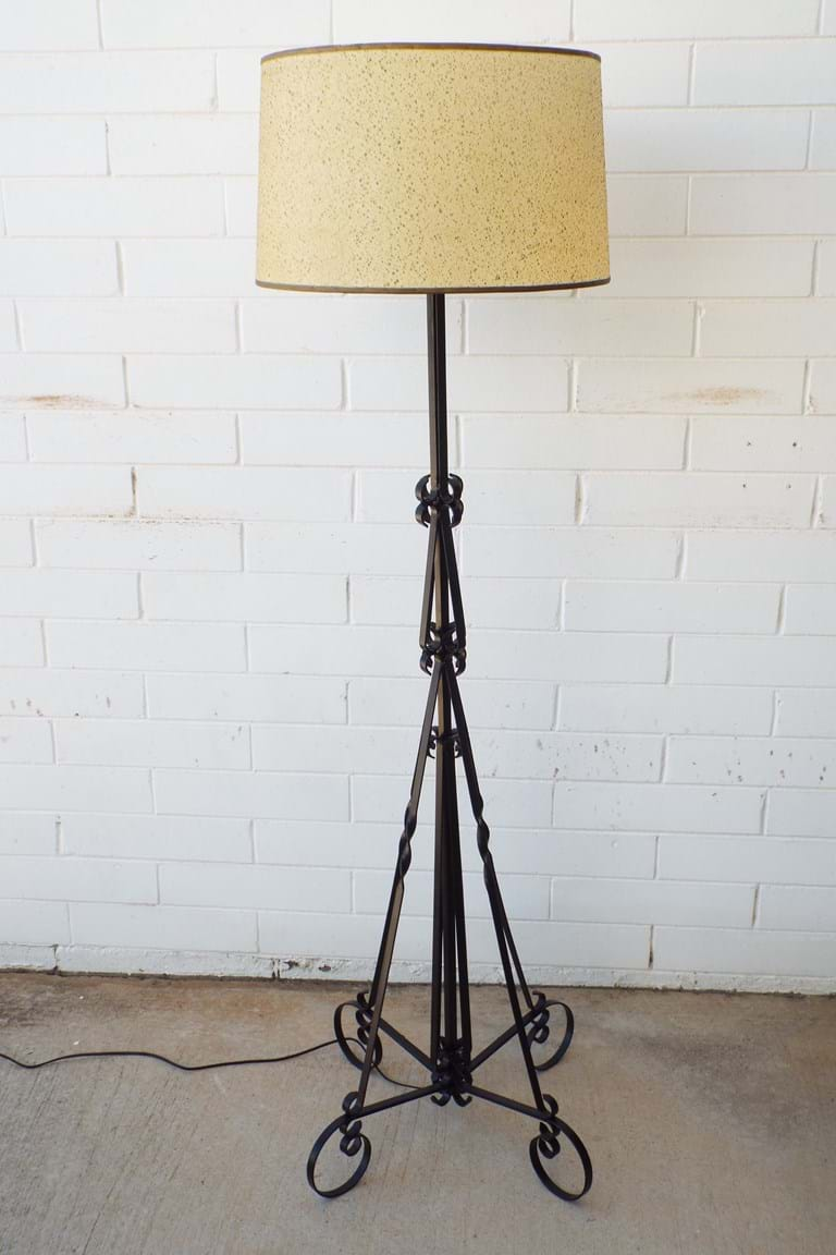 c1960s Wrought iron floor lamp