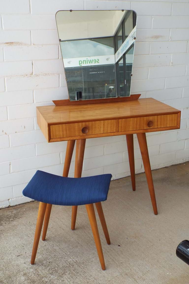 1950s Parker dressing table with matching stool