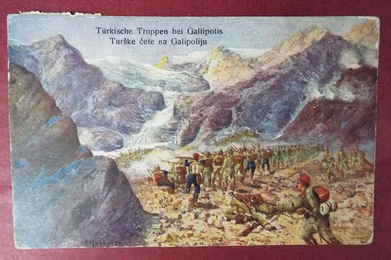 WWI Original c1915 GALLIPOLI postcard from the TURKS perspective