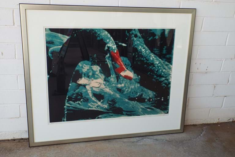 "Limited Edition Sidney Nolan screen print ""Leda and the Swan"""