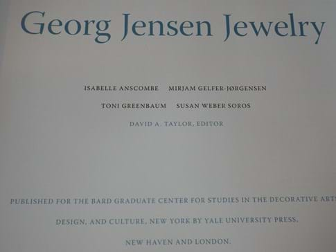 Reference book GEORG JENSEN JEWELRY