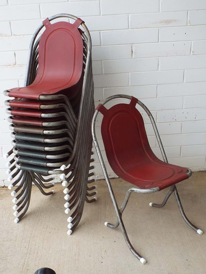 """Stak-A-Bye"" stacking chairs by Sebel"