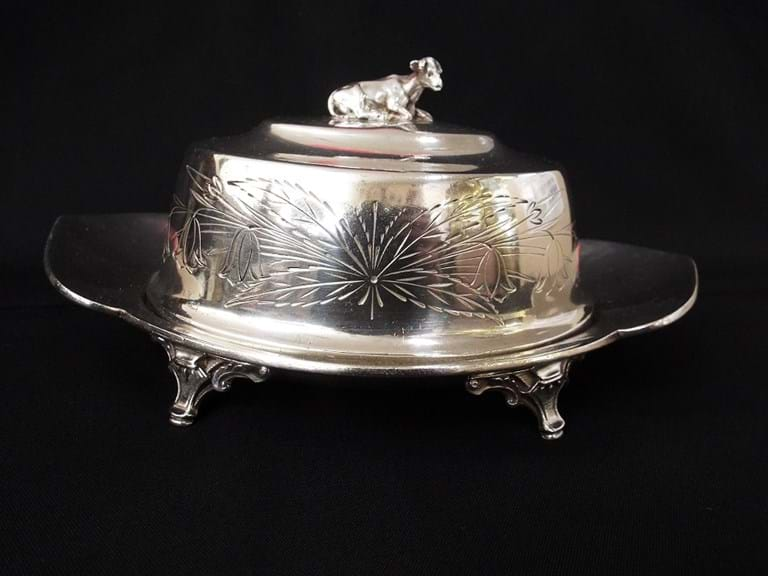Taunton Silver Plate Co Victorian butter dish