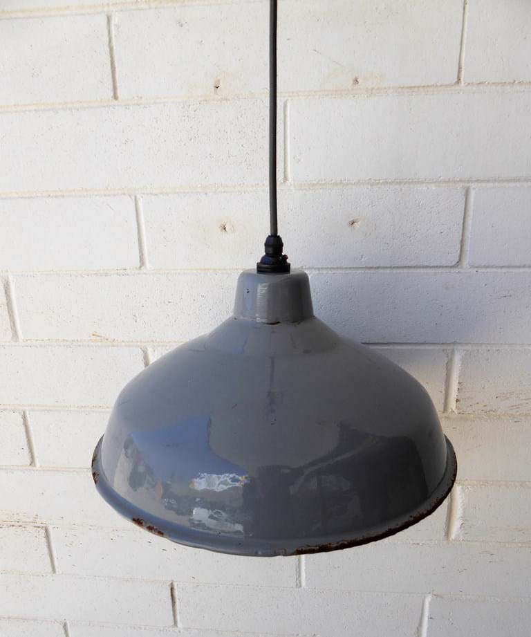 c1950s industrial pendant light fitting