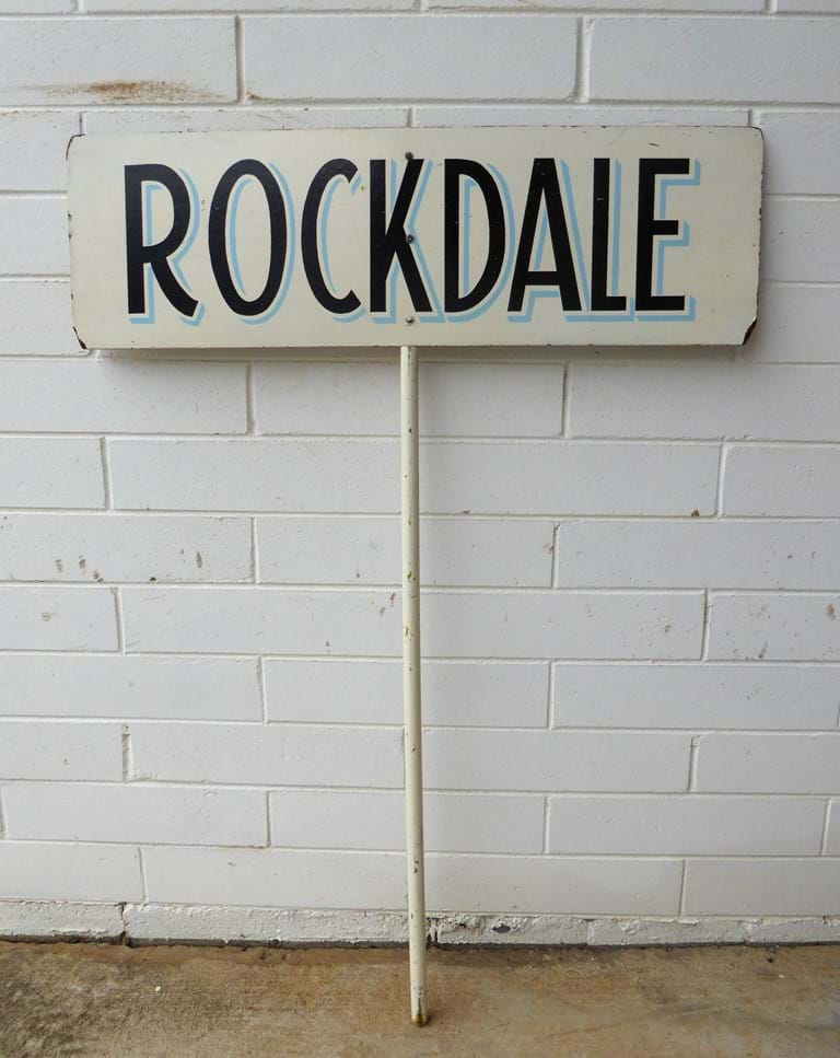 1950s-1960s timber parade sign ex  Rockdale, Sydney