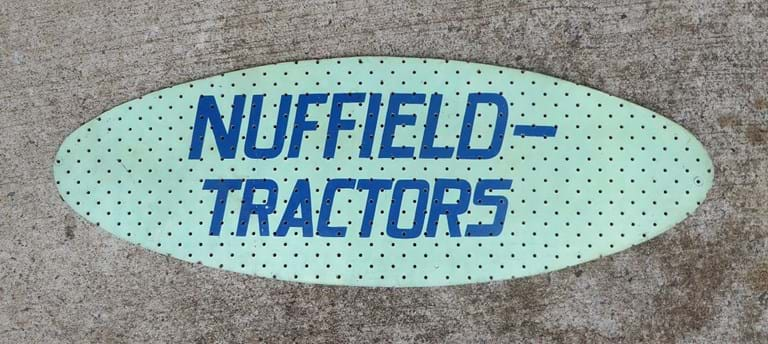 c1960s motor vehicle advertising sign British Motor Corporation's Nuffield  tractors