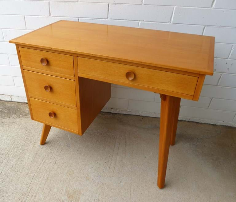 Petite 1960s timber desk