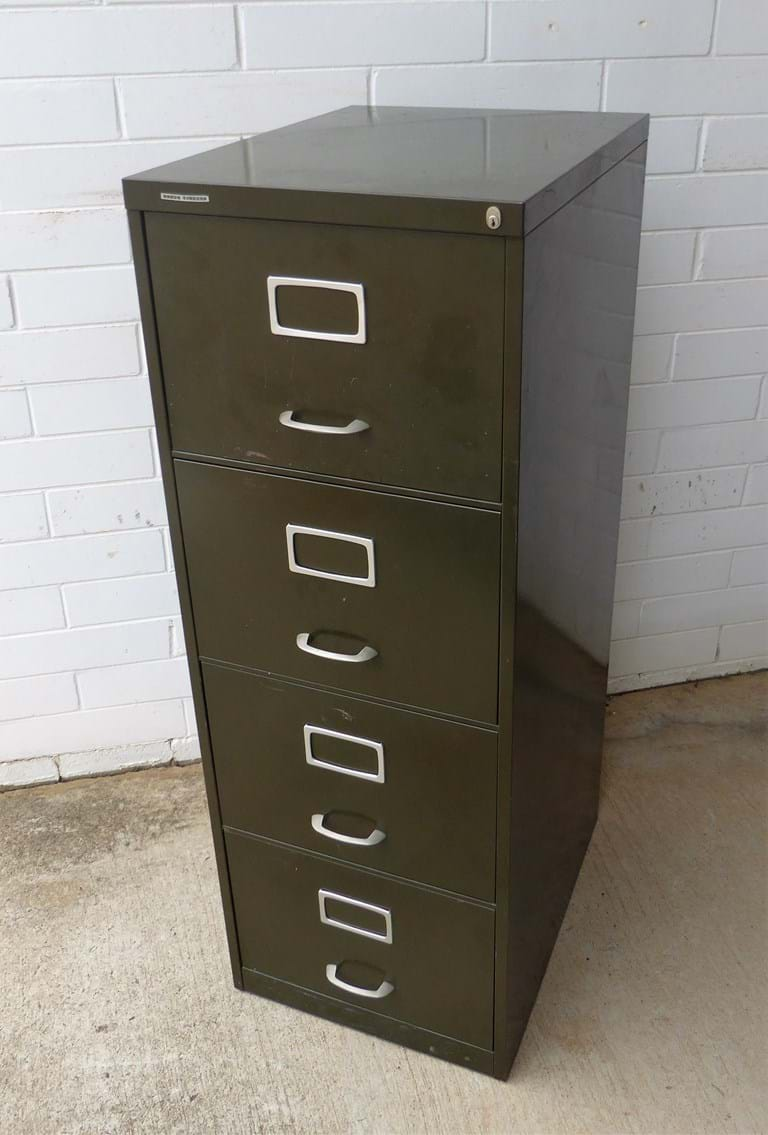 1960s four drawer steel filing cabinet by Roneo Vickers, UK