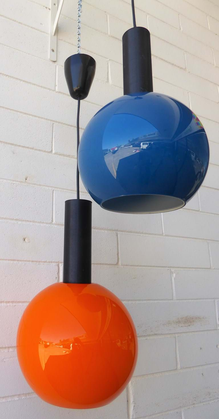 1970s pendant light fittings by Putzler, West Germany