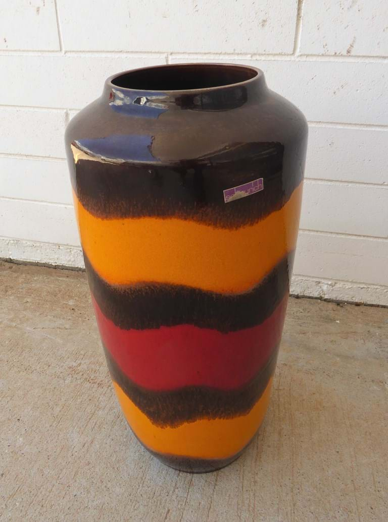 c1970s ceramic floor vase by Scheurich Keramik (West) Germany