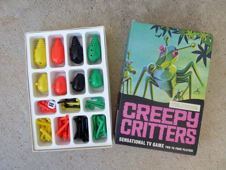 "c1970s ""Creepy Critters"" game by Toltoys, Australia"