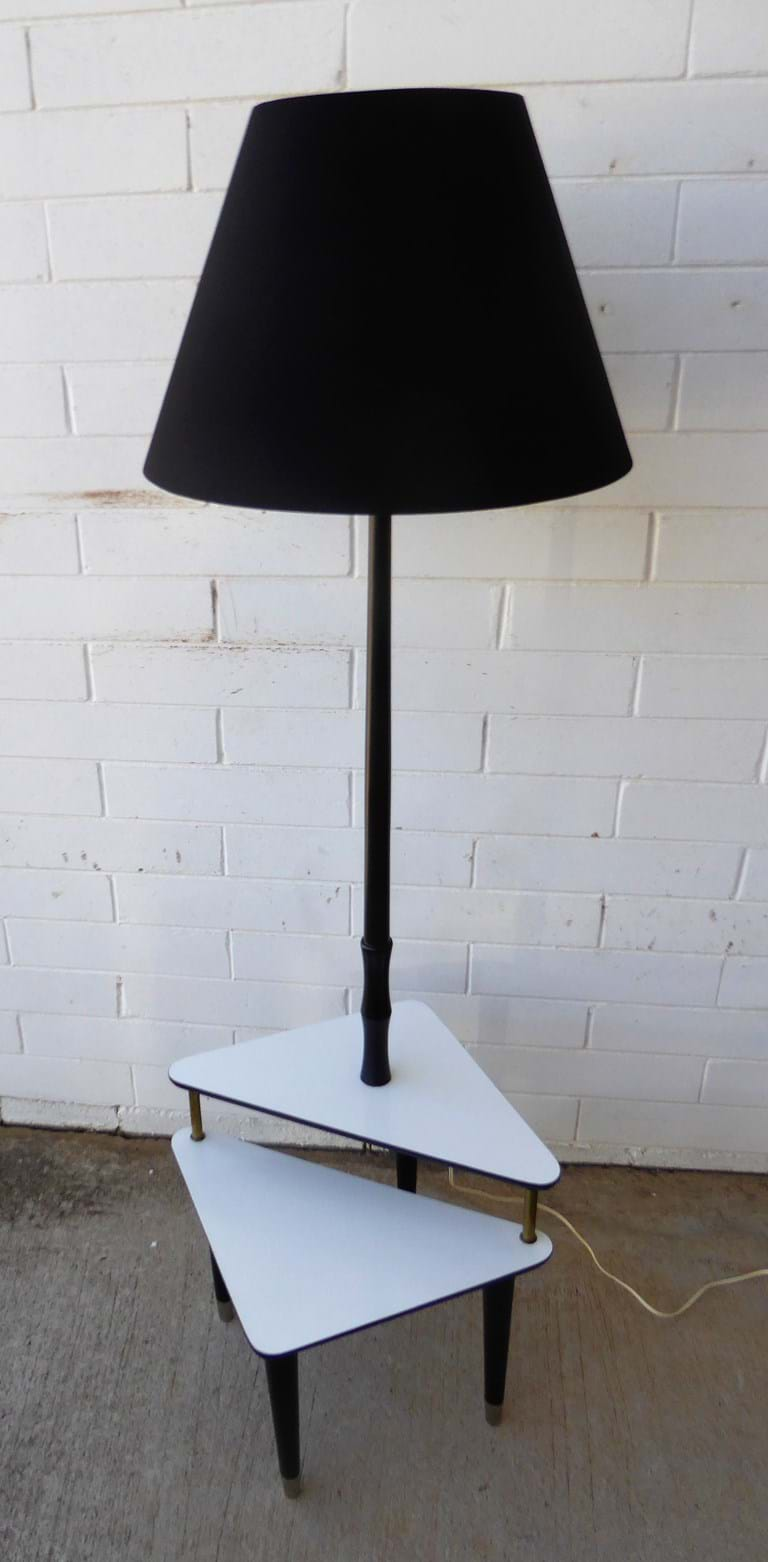 1950s timber floor lamp by E. Seymour & Sons