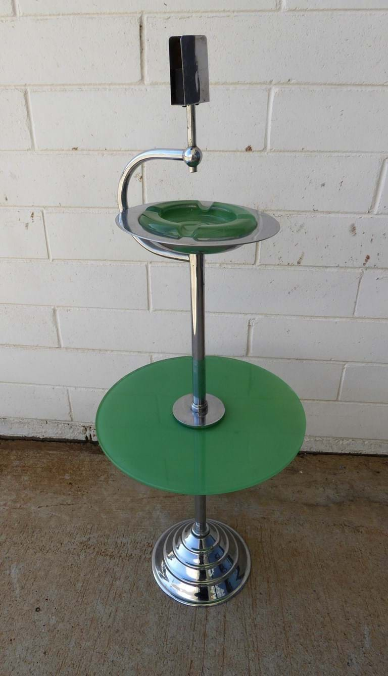 1950s chrome smokers stand