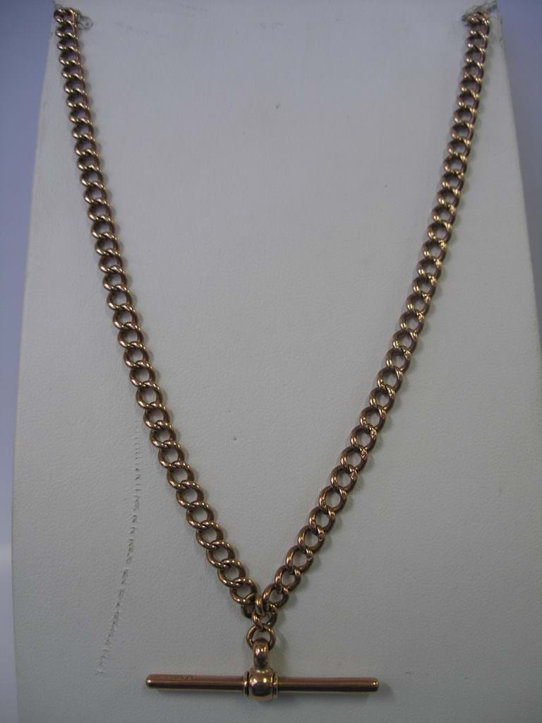 Rose gold fob chain and T bar