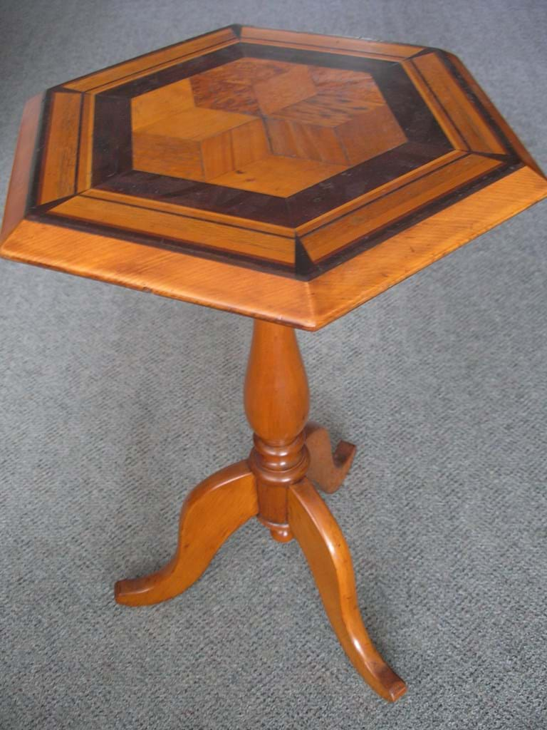 New Zealand specimen timbers wine table