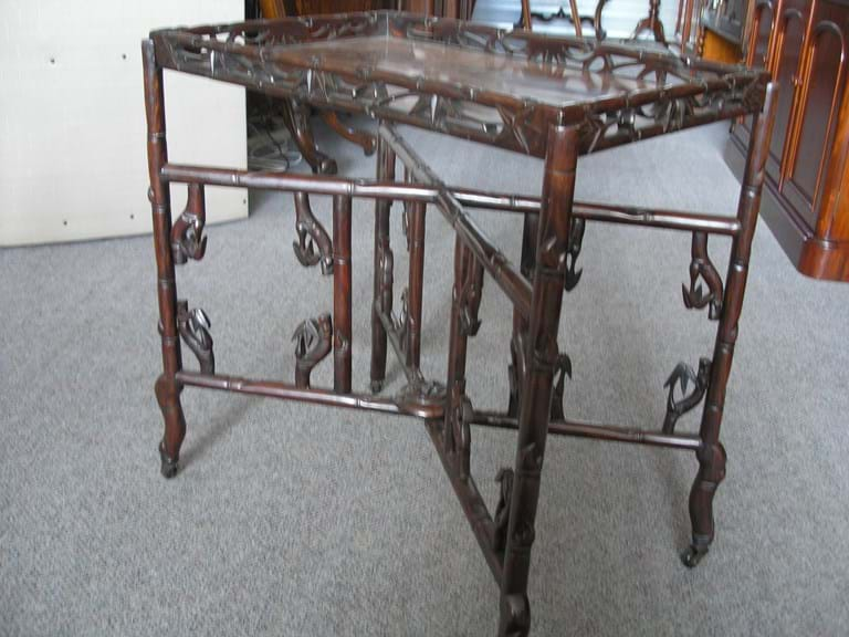 Chinese rosewood folding table