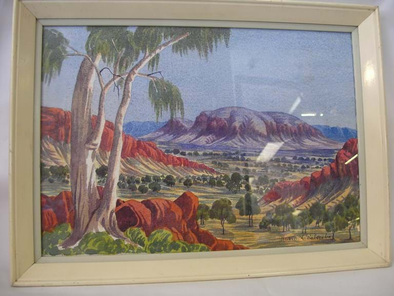 c1960 Hermannsburg School watercolour by Henoch Raberaba