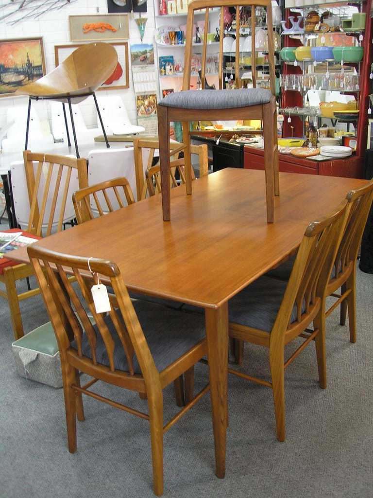 T H Brown seven piece dining suite