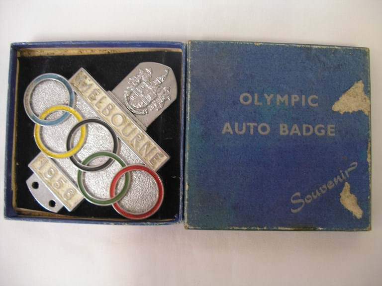 1956 Melbourne Olympics boxed car badge