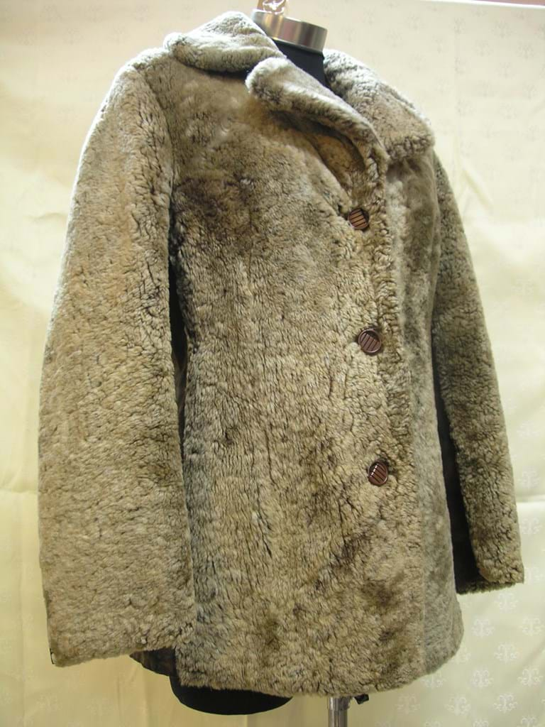 c1970 European sheepskin suede jacket